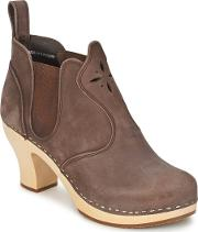 Swedish Hasbeens , Opera Bootie Women's Low Boots In Brown