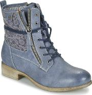 Tom Tailor , Relouni Women's Mid Boots In Blue