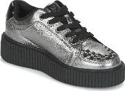 Tuk , Casbah Creepers Women's Shoes (trainers) In Silver