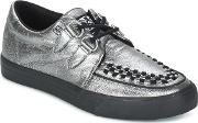 Tuk , Creepers Sneakers Women's Casual Shoes In Silver