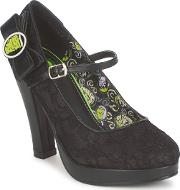 Tuk , Monster Mash Women's Court Shoes In Black