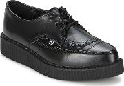 Tuk , Pointed Toe Creepers Women's Casual Shoes In Black