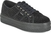 Victoria , Basket Terciopelo Women's Shoes (trainers) In Black