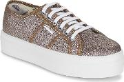Victoria , Blucher Glitter Plataforma Women's Shoes (trainers) In Silver