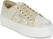 Victoria , Blucher Tejido Lurex Women's Shoes (trainers) In Gold