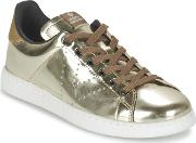 Victoria , Deportivo Basket Metallise Women's Shoes (trainers) In Gold
