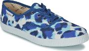 Victoria , Inglesa Estamp Huella Tigre Women's Shoes (trainers) In Blue