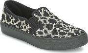 Victoria , Slip On Estampado Vaca Women's Slip-ons (shoes) In Black