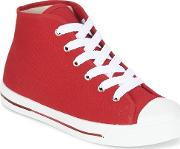 Yurban , Ewaxime Women's Shoes (high-top Trainers) In Red