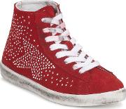 Yurban , Guiver Women's Shoes (high-top Trainers) In Red