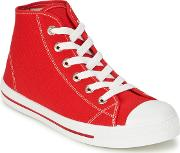 Yurban , Waxi Men's Shoes (high-top Trainers) In Red
