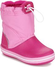 Crocs , Crocband Lodge Point Boot Girls's Snow Boots In Pink