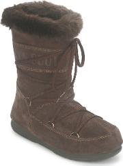 Moon Boot , Butter Mid Women's Snow Boots In Brown