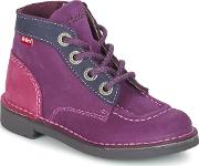 Kickers , Kick Colz Girls's Mid Boots In Purple