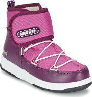 Moon Boot , We Strap Jr Girls's Snow Boots In Purple