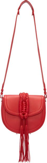 Altuzarra , Red Ghianda Knot Saddle Bag