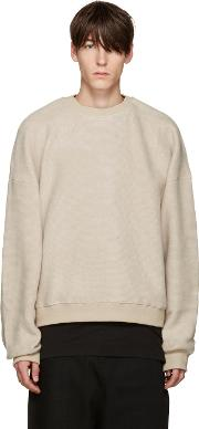 D By D , Beige Oversized Pullover