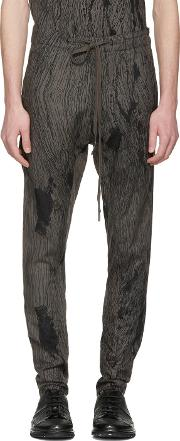Nudemm , Nude Mm Grey Printed Trousers
