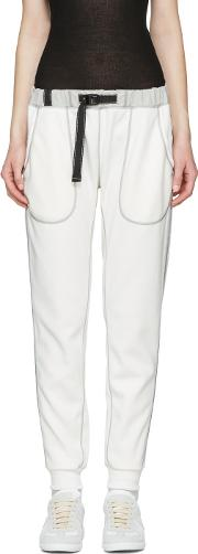 And Wander , Off White Ponte Lounge Pants