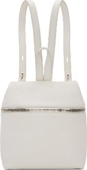 Kara , Off White Small Leather Backpack