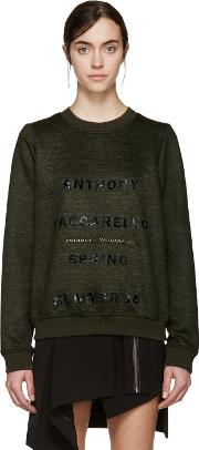 Anthony Vaccarello , Green Logo Pullover