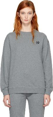 Mcq Alexander Mcqueen , Grey Swallow Badge Sweatshirt