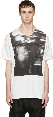 Nudemm , Nude Mm Off White Printed T Shirt