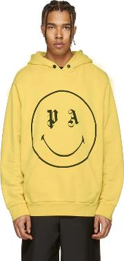 Palm Angels , Ssense Exclusive Yellow Pa Smiling Hoodie