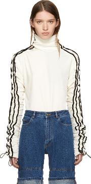 Yproject , Y Project Ivory Pull Cord Sleeve Turtleneck