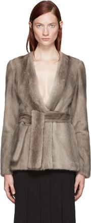 Brock Collection , Taupe Mink Faye Jacket