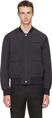 Tiger Of Sweden , Navy Illuster Bomber Jacket