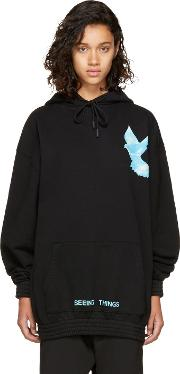 Offwhite , Off White Black Oversized Not Real Dove Hoodie