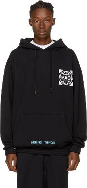 Offwhite , Off White Ssense Exclusive Black Overized Globe Hoodie