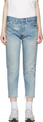Chimala , Blue Selvedge Narrow Tapered Jeans