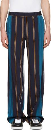 Tiger Of Sweden , Navy Striped Eamon Trousers