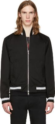 Herman , Black Cotton Bomber Jacket