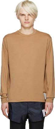 Satisfy , Brown Packable T Shirt