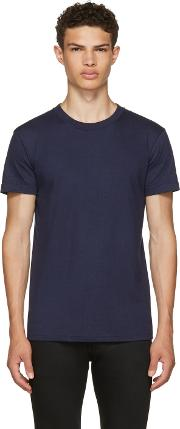 Naked And Famous Denim , Navy Ring Spun T Shirt