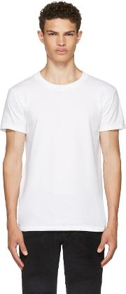 Naked And Famous Denim , White Ring Spun T Shirt