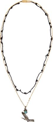 Lanvin , Gold And Silver Bird Necklace
