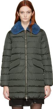 Moncler , Green Down Indis Coat