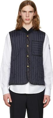 Moncler Gamme Bleu , Navy Quilted Down Vest