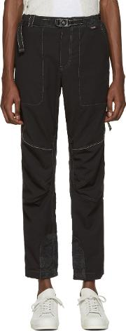 And Wander , Black Schoeller Reflect Trousers