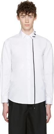 Craig Green , White Lace Up Collar Shirt