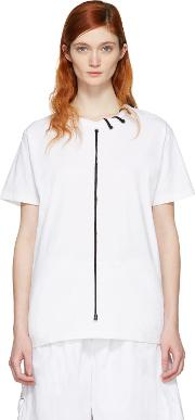 Craig Green , White Lace Up Collar T Shirt