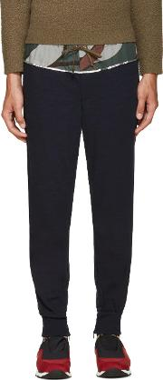Kolor , Navy Wool Lounge Pants