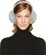 Yves Salomon , Grey Fur Earmuffs