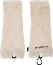 And Wander , Off White Fleece Arm Warmers
