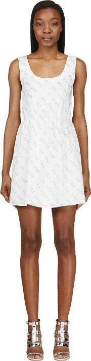 Maiyet , White Text Graphic Dress