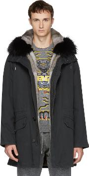 Yves Salomon , Black Original Fur Parka